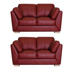 Red Leather Two Seater Sofa Turns Into Bunk Bed Video Helmsley 2seater Plus Set Buy And Save