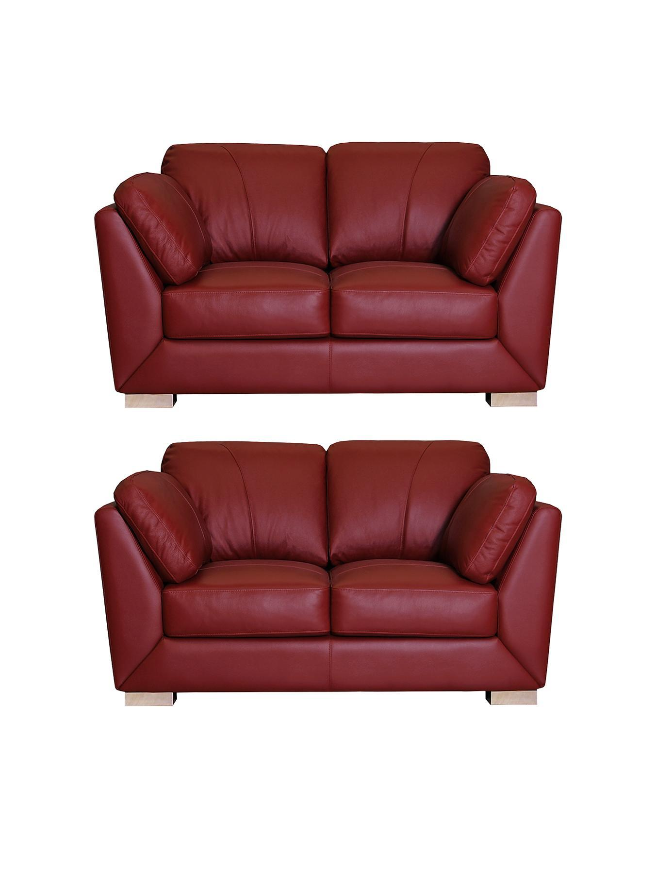 red leather sofa cheap average width of table helmsley 2seater plus set buy and save