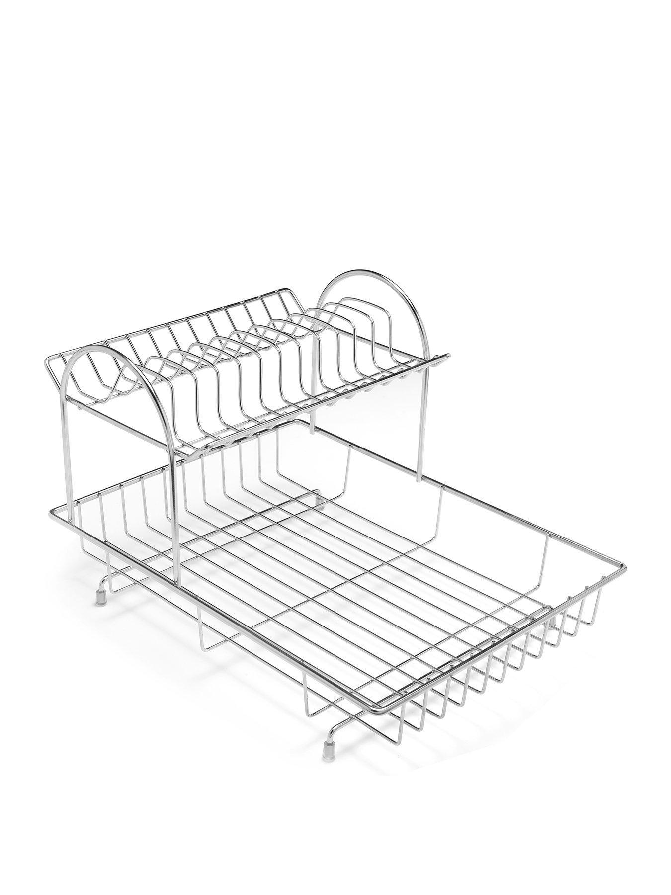 2 tier dish draining rack