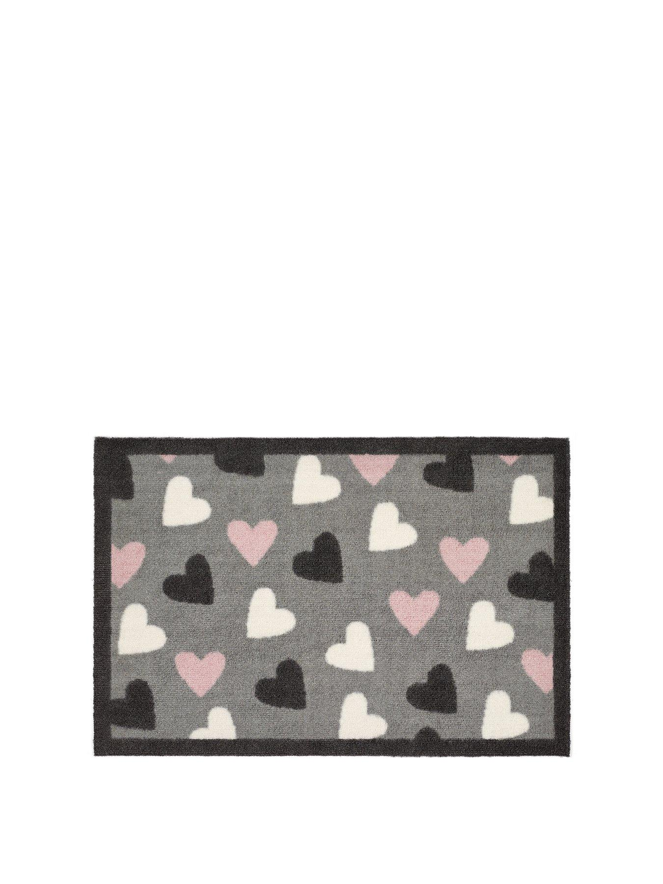 kitchen rugs and mats diy counters carpets flooring home garden www littlewoods com heart indoor doormat