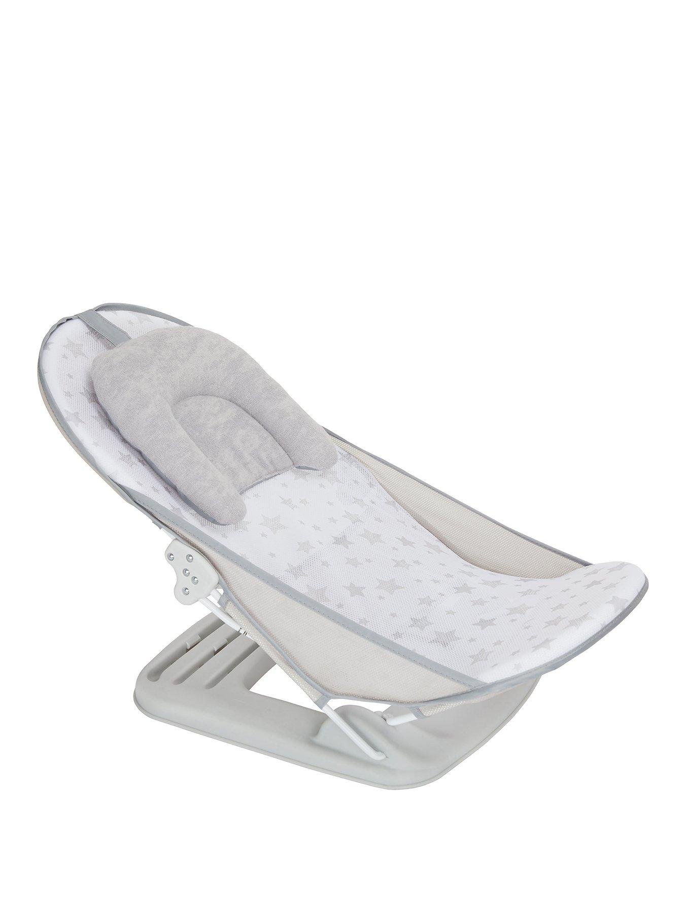 baby bath chair mothercare dining chairs fabric baths sets littlewoods grey stars bather unisex