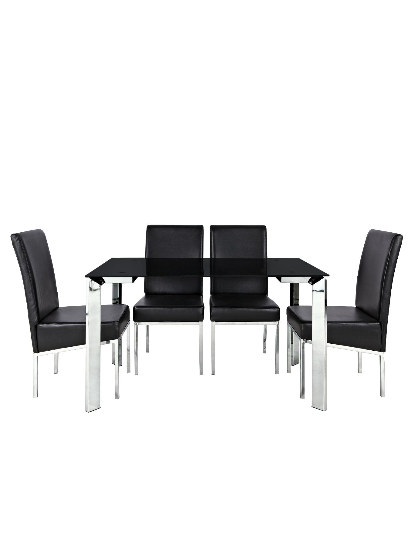 Matrix Glass Top Dining Table and 4 Chairs