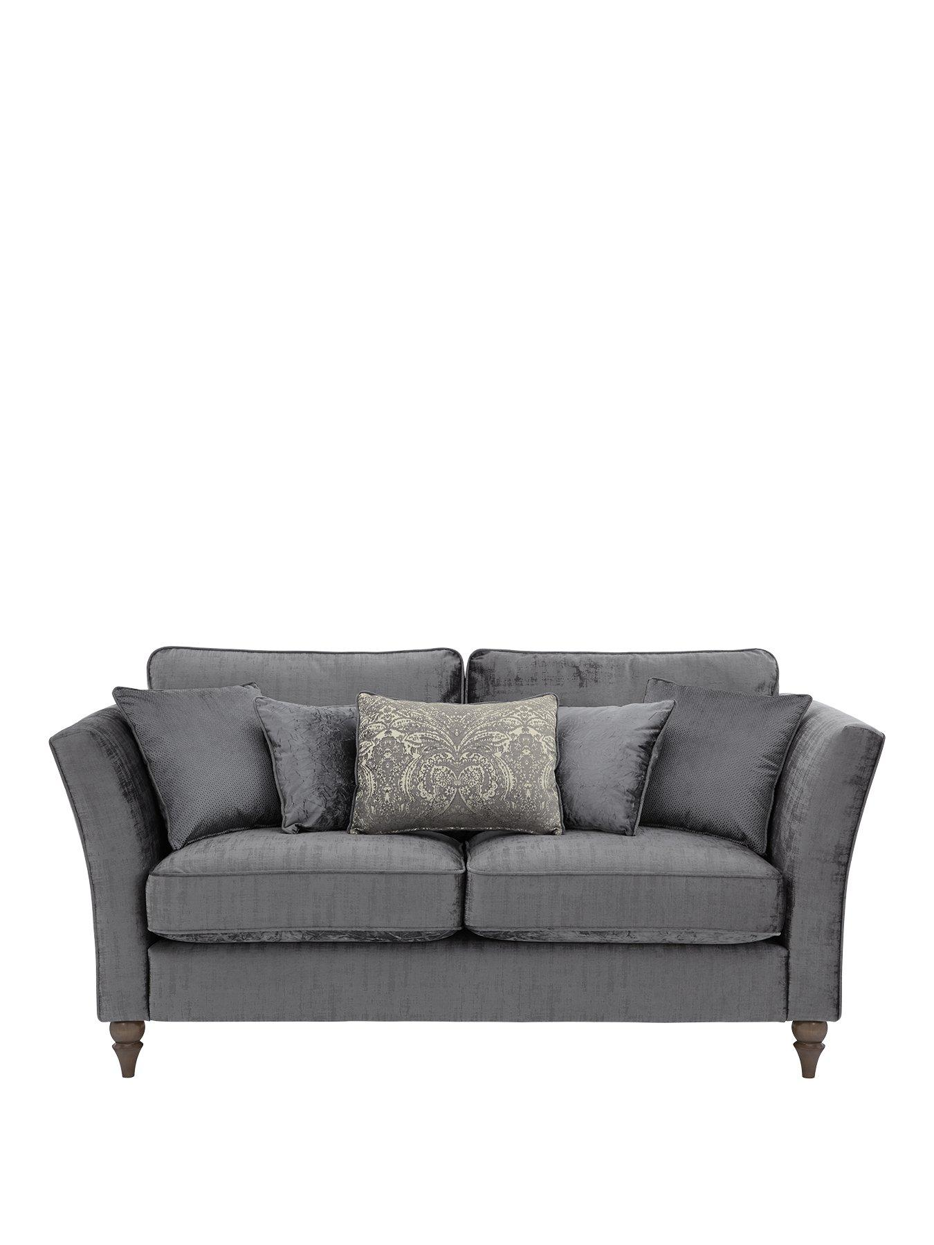 luxe 2 seat sofa slipcover chrome legs collection opulence seater fabric littlewoodsireland ie