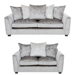 3 Seater Fabric Sofa Victor Flexform Glitz 2 Set Buy And Save Littlewoodsireland Ie