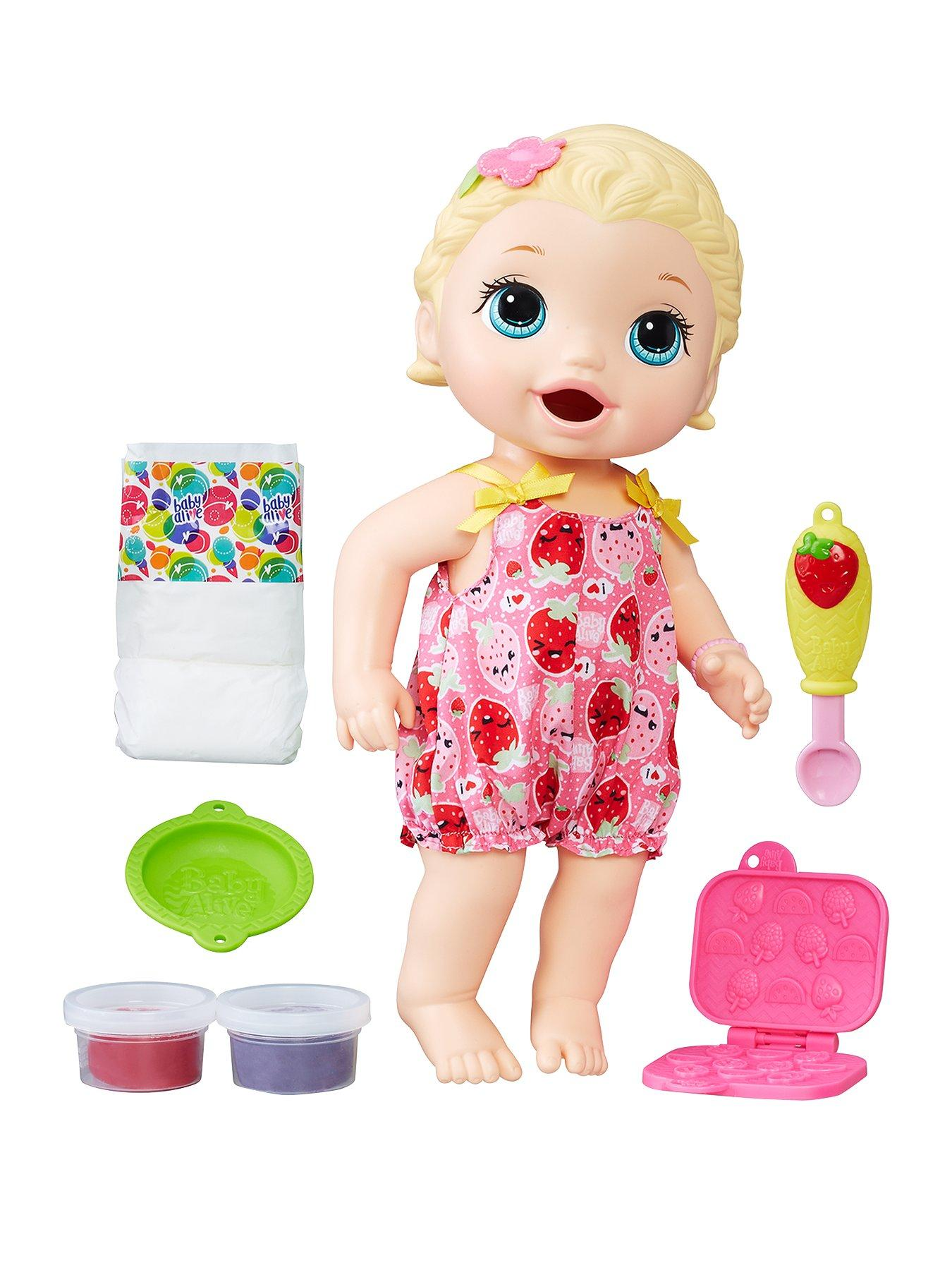 baby alive snackin' lily blonde