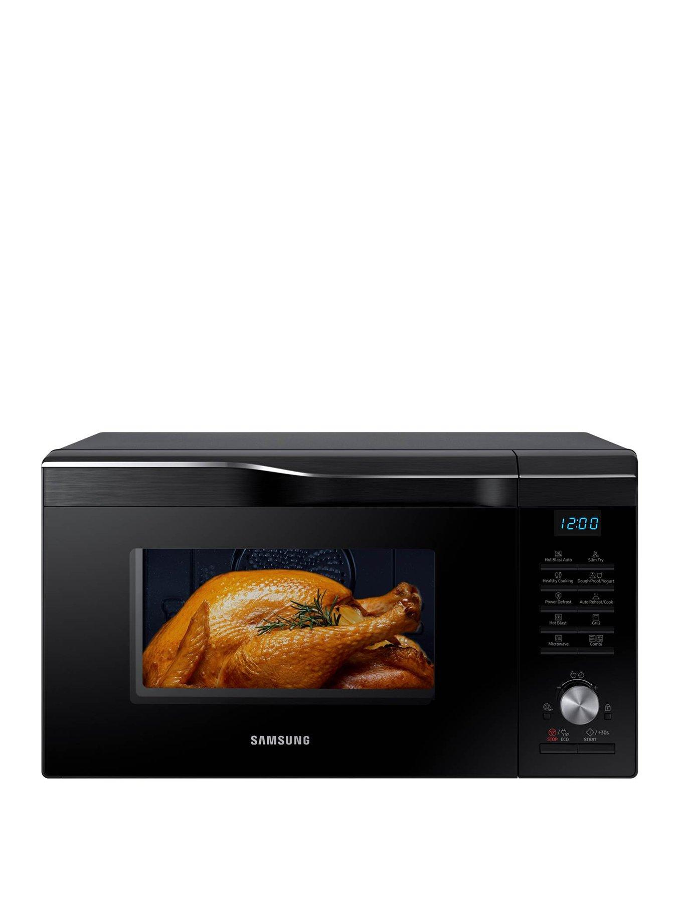 easy view mc28m6055ck eu 28 litre combination microwave oven with hotblast technology black