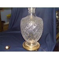 2 piece matching cut crystal glass table lamps Waterford ...
