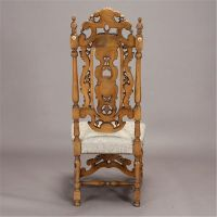 Baroque Style Carved Walnut Chair