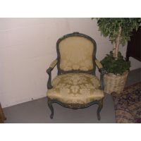 antique carved French? arm chair (painted) SSR