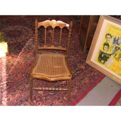 Antique Cane Seat Dining Chairs 2 Chair Table Set For Bedroom Furniture