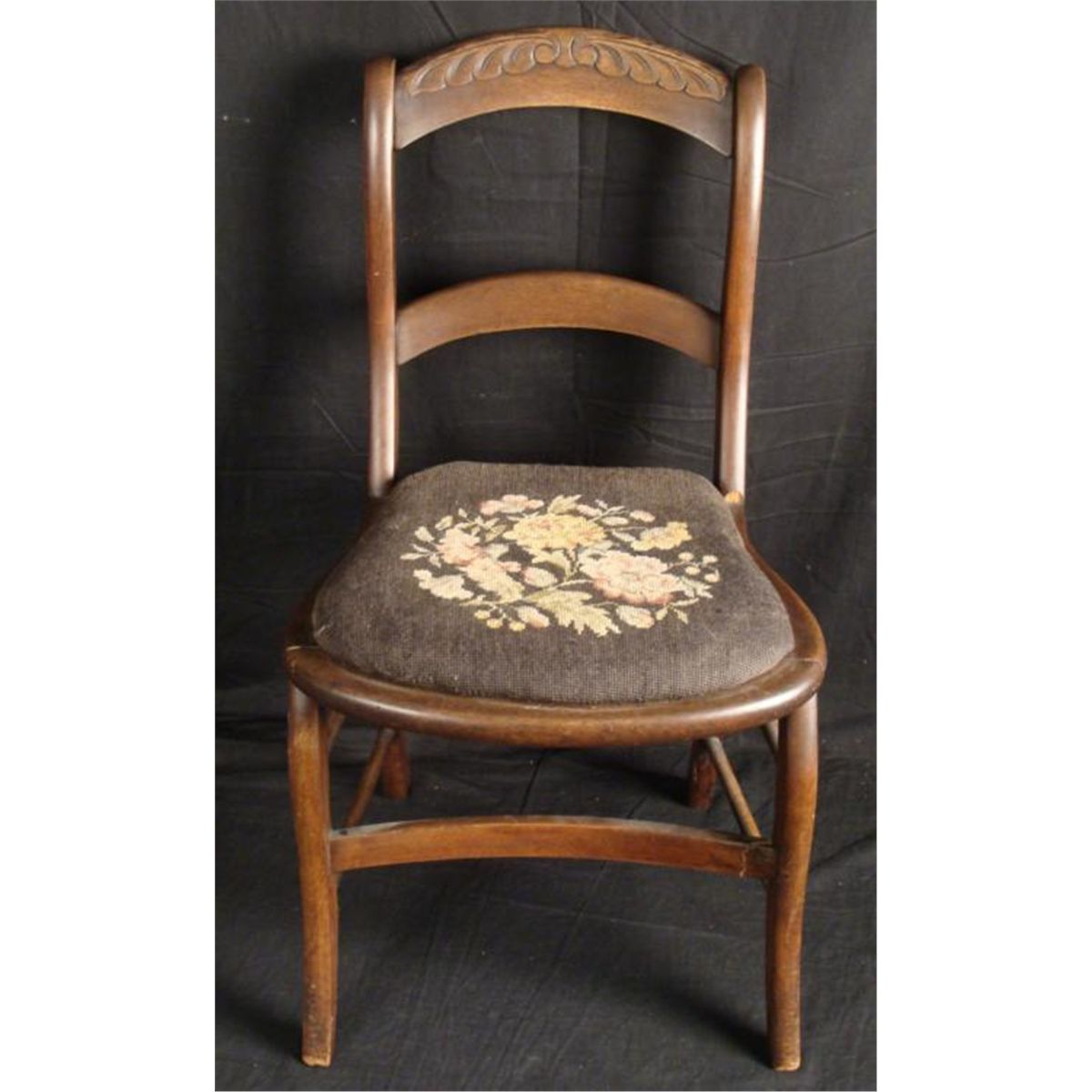 antique needlepoint chair inflatable stool chairs furniture