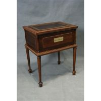 Leather top coin chest