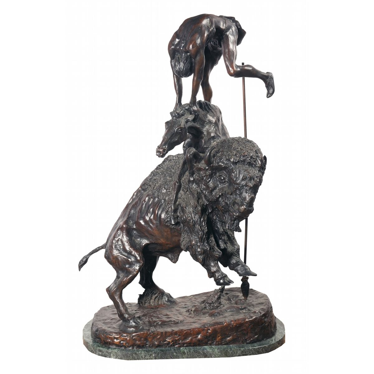 """Excellent Copy Of Frederic Remington's """"the Buffalo Horse"""""""