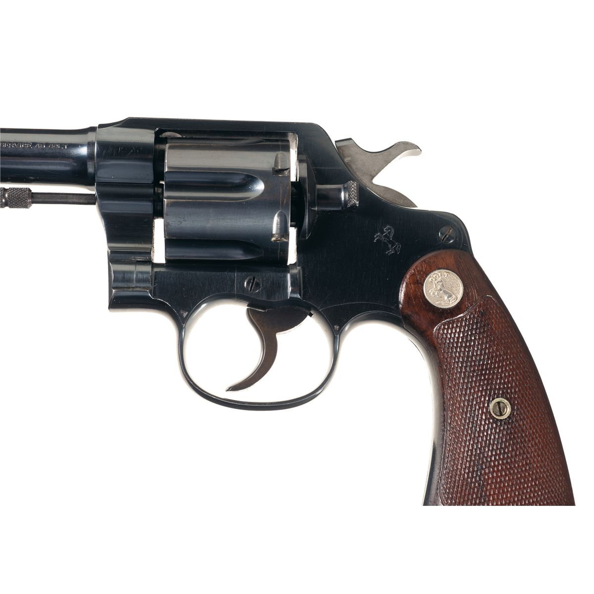 Scarce Colt Service Model Double Action Revolver In 45