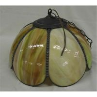 Antique Slag Glass Hanging Lamp Shade