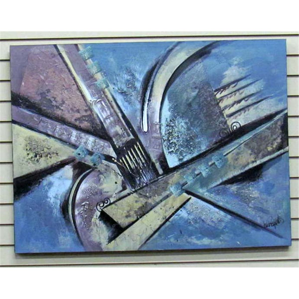Abstract Painting Canvas Signed Lee Reynolds