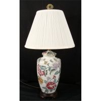 Kaiser Kuhn Chinese Porcelain Floral Table Lamp