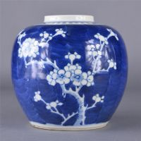 Chinese Blue & White Cracked Ice Ginger Jar