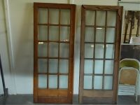 Pair French Doors with 15 Glass Panes Vintage Oak 15 Glass ...