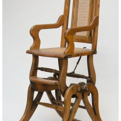Antique High Chairs Banquet Chair Covers Cheap Wooden Combination Baby S Rocker Image 1