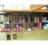 LOT ASSORTED HAIR COLOR BY LOREAL WITH DISPLAY RACKS