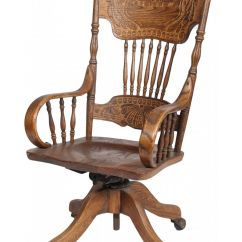 Chair On Wheels Special Tomato Eio Push Ornate Carved Wood Desk W Armrests Fea Image 1