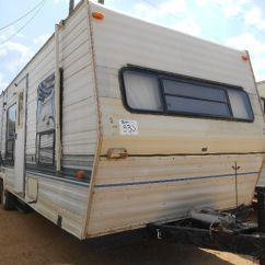 Front Kitchen Travel Trailer Slicer Sandpiper 30 S N Rear Bedroom Image 2