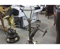 STREETLIGHT LAMP WITH FIGURINE BASE - Able Auctions