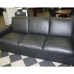 Natuzzi Arona 2 Seater Leather Sofa Bed Sectional With Cup Holders Black 3 Seat Able Auctions