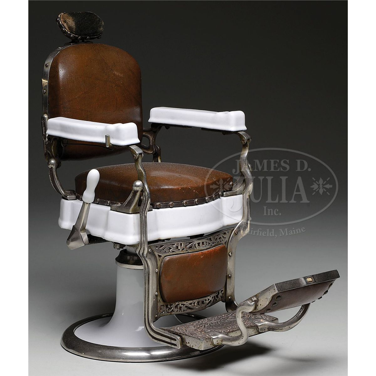 koken barber chair for sale wegner circle replica rare porcelain salesman sample