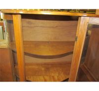 Antique Cherry Wooden Curio Cabinet with Glass Doors and ...