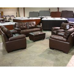 2 Piece Brown Leather Sofa Chairs Brisbane 5 Loveseat Two And