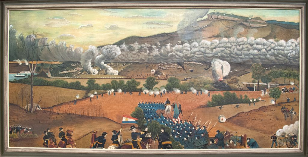 Folk Art Painting Of The Battle Of Lookout Mountain Quot The