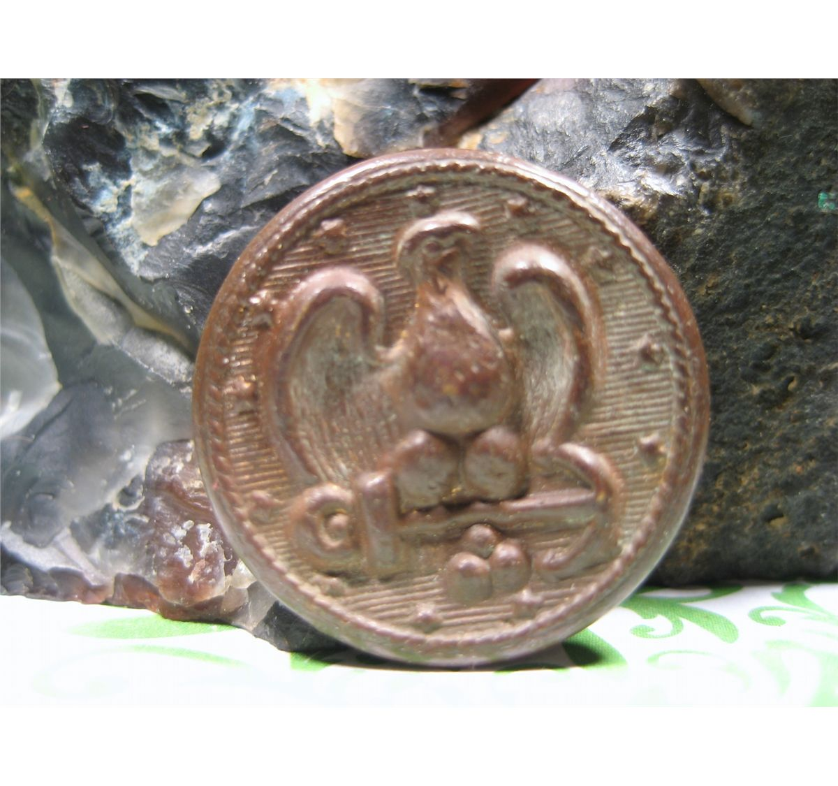 Vintage Buttons Eagle With Anchor And Navy - Year of Clean Water