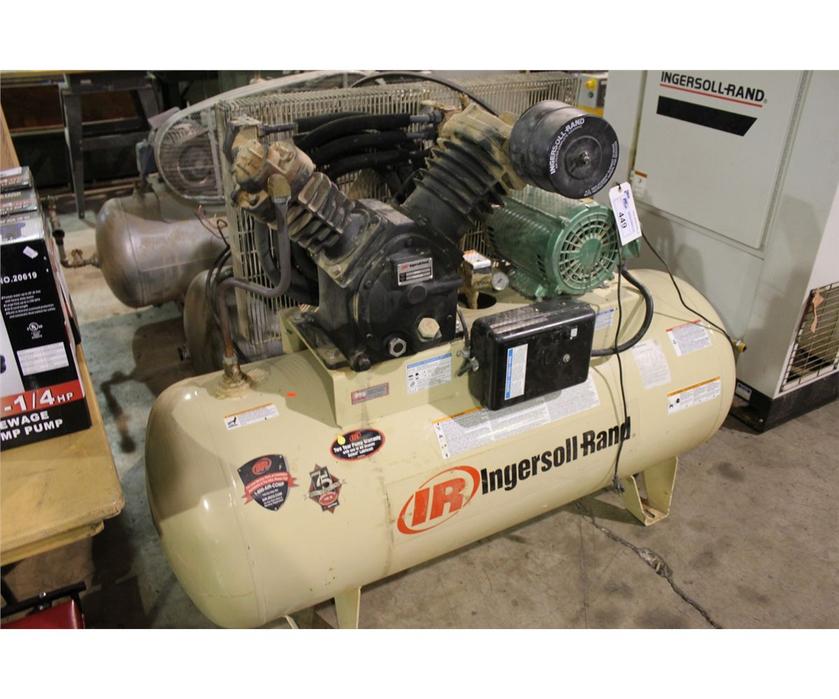 medium resolution of image 1 ingersoll rand 2545 e10v with starter electric horizontal air compressor