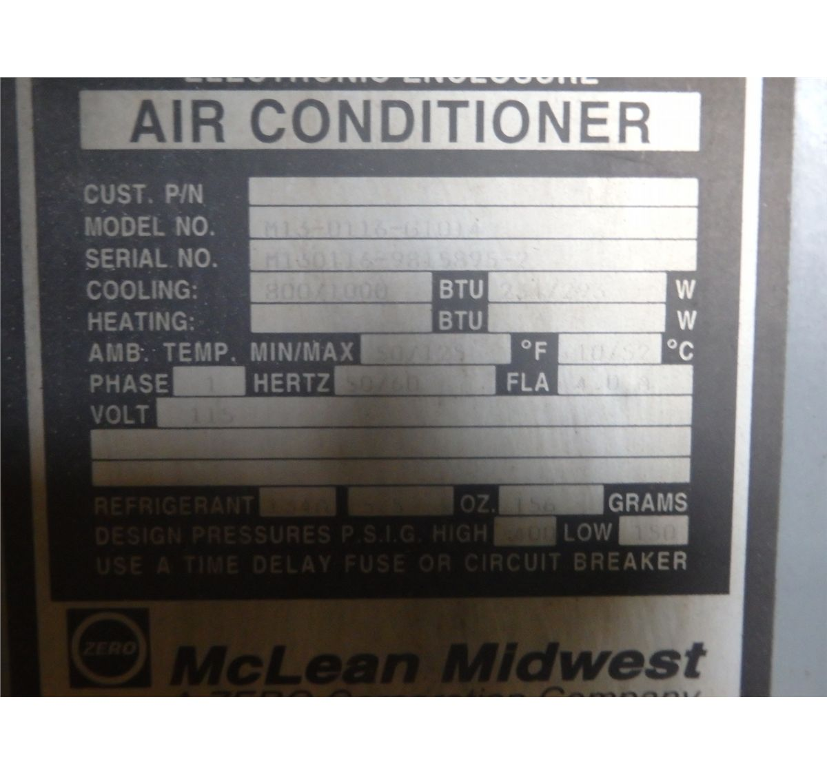 small resolution of  image 7 mclean midwest m13 0116 g1014 electrical box chiller air conditioner