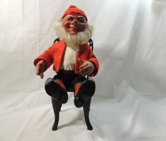 Image  Vintage Arne Hasle Norge Latex Doll With Chair