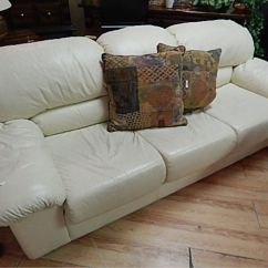 Leather Chesterfield Sofa Beige 2 Seat Cover From Local Estate