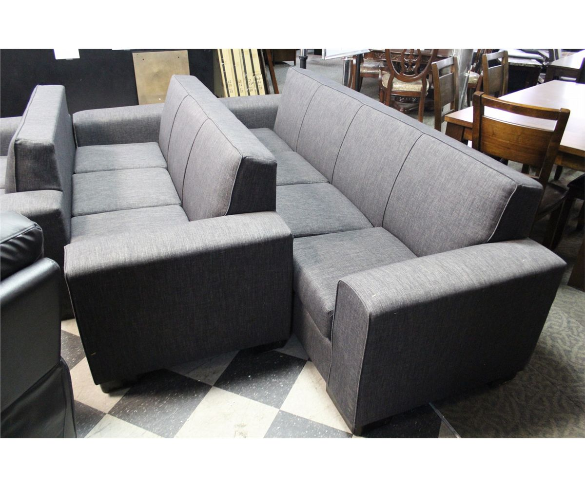 jamestown 2 piece sofa and loveseat group in gray reupholstery orange county ca charcoal grey 3 set includes 4 seat