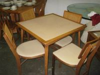 Wooden Card Table & Chairs