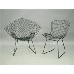 bertoia wire chair original covers ikea dining chairs harry a diamond chickenwire and another with the plastic coating br