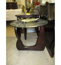 NEW - Round glass topped coffee table