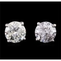 14KT White Gold 1.17ctw Diamond Stud Earrings