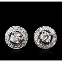 14KT White Gold 0.75ctw Diamond Earrings