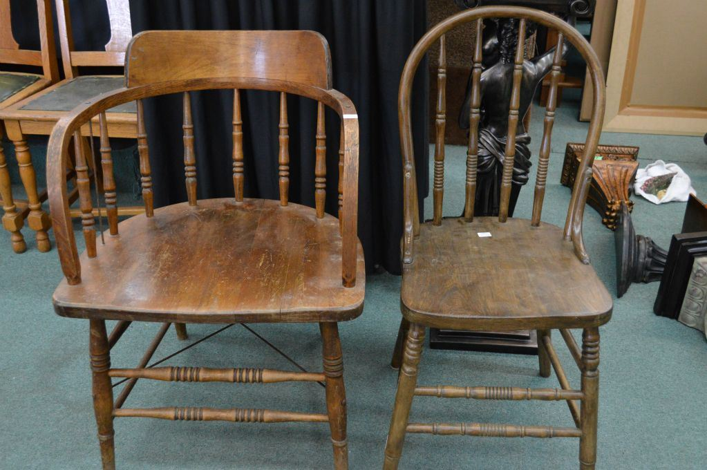 old wood chairs table rental two vintage wooden including cnr captain s style chair image 1