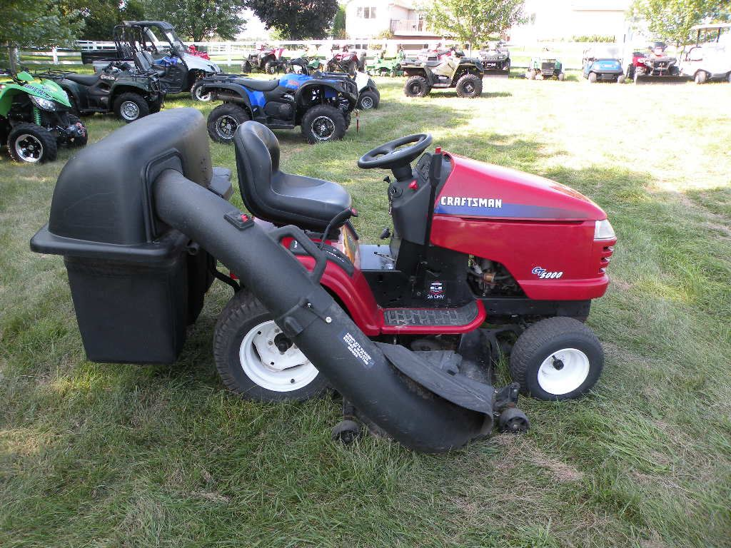 small resolution of  image 3 craftsman gt5000 54 cut w bagger sn 050504b001689