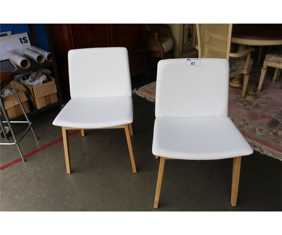 mid century modern leather accent chair oz tent pair of matching inspired white