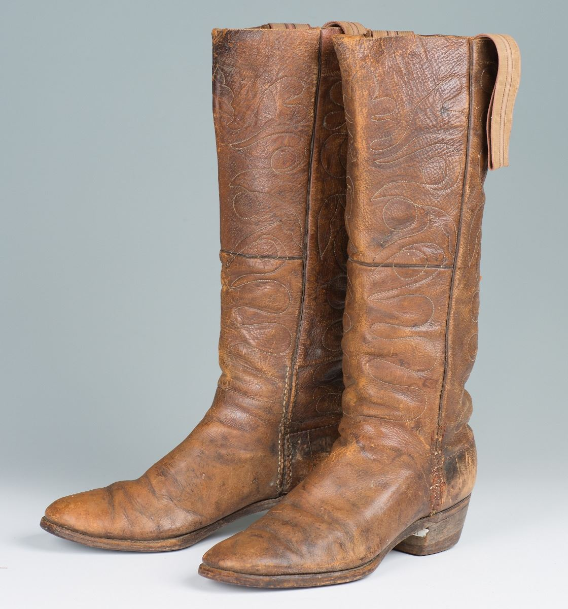 Pair of Cowboy Stovepipe Boots