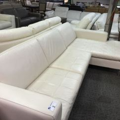 Cream Full Leather Chaise Sectional Sofa Havertys Furniture Tables With