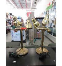 2 Used brass table lamps